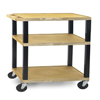 """Janitorial Carts, Trucks, and Utility Carts: Luxor - 3-Shelf Tuffy Cart - 34"""" Tall"""