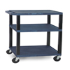 "Janitorial Carts, Trucks, and Utility Carts: Luxor - 3-Shelf Tuffy Cart - 34"" Tall"