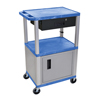 Janitorial Carts, Trucks, and Utility Carts: Luxor - Multipurpose Utility Cart with Cabinet & Drawer