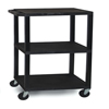 Luxor 3-Shelf Tuffy Cart - 42 Tall LUX WT42E