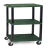 """Janitorial Carts, Trucks, and Utility Carts: Luxor - 3-Shelf Tuffy Cart - 42"""" Tall"""