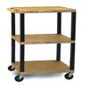 "utility carts, trucks and ladders: Luxor - 3-Shelf Tuffy Cart - 42"" Tall"