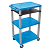 Luxor Presentation Cart with Open Shelves & Pull Out Tray LUX WTPS42BUE-N