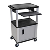 Cake Pie Covers Stands: Luxor - Presentation Cart with Cabinet & Pull Out Tray