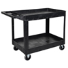 Janitorial Carts, Trucks, and Utility Carts: Luxor - Two-Shelf Heavy-Duty Utility Cart