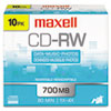 CDs Rewritable: Maxell® CD-RW Rewritable Disc