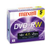 DVDs Rewritable: Maxell® DVD+RW Rewritable Disc