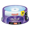 Storage Media: Maxell® DVD+R High-Speed Recordable Disc