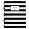 Mead Cambridge® Black  White Striped Hardcover Notebook MEA 59010