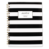 school notebooks and business notebooks: Cambridge® Black  White Striped Hardcover Notebook