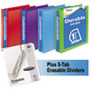 Mead Mead® Durable D-Ring View Binder Plus Pack MEA 66534AU