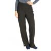 Medline Ocean Ave Womens Stretch Fabric Support Waistband Scrub Pants, Black, Medium MED 5560BLKM