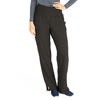 Medline Ocean Ave Womens Stretch Fabric Support Waistband Scrub Pants, Black, Medium MED 5560BLKMT