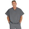 Medline Fifth Ave Unisex Stretch Fabric V-Neck Scrub Top with 1 Pocket, Black, 3XL MED 5910CHRXXXL