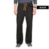 Medline PerforMAX Unisex Reversible Scrub Pants with Front Drawstring, Black, Large MED 800DKWL-CA