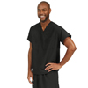 Medline PerforMAX Unisex Reversible V-Neck Scrub Top with 2 Pockets, Blue, Small MED 810DKWS-CA