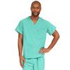 Medline PerforMAX Unisex Reversible V-Neck Scrub Top with 2 Pockets, Green, Small MED 810NTJS-CA