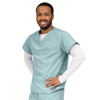 Medline PerforMAX Unisex Reversible V-Neck Scrub Top with 2 Pockets, Green, Small MED 810NTZS-CM