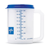 Medline Carafe with Graduations, Clear with Blue Lid, 22 oz., 72 EA/CS MED DYC80541P