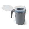 Medline Water Pitcher Sets with Plastic Inner Liner, Graphite, 32 oz., 40 EA/CS MED DYK100CMPL