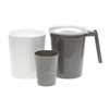 Medline Water Pitcher and Tumbler Set with Foam Outer Jacket, Graphite, 32 oz., 40 EA/CS MED DYK100CMT