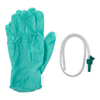Medline Open Suction Rigid Trays with Catheter and Gloves, Green, 14.0 MED DYND40982