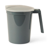 Medline Non-Insulated Plastic Pitchers, Graphite, 32.000 OZ, 100 EA/CS MED DYND80535