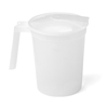 Medline Noninsulated Plastic Pitcher with Handle and Lid, Pigment Free, 1,000 cc, 100 EA/CS MED DYNEC80535C
