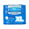 Medline FitRight Super Protective Underwear, X-Large, 80 EA/CS MED FIT33600A