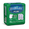 Medline FitRight Plus Incontinence Briefs, 40-50, 80 EA/CS MED FITPLUSRG