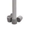 "Benches Metal Benches: Guardian - Tip, Crutch, Utility, 1.125"", Gray"