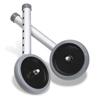 Guardian Wheel, 5, Footpiece Set, For Walker MED G07722G