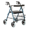 "Rehabilitation Devices & Parts: Guardian - Deluxe Rollators with 8"" Wheels, Blue"