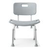 Medline Aluminum Bath Benches with Back, Gray, 1 EA MED G2-101KRX1