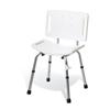 Medline Basic Shower Chair with Back, White MED G30402MH