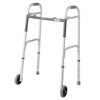 Guardian Easy Care Two-Button Folding Walkers with 5 Wheels, 4EA/CS MED G30751W