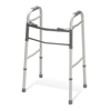 Medline Two-Button Folding Walkers without Wheels MED G30755P-1