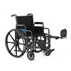 Medline K1 Basic Wheelchair with Swing-Back Desk-Length Arms and Elevating Leg Rests, 16 MED K1166N22E