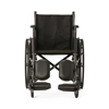 Medline K1 Basic Wheelchair with Full-Length Permanent Arms and Elevating Leg Rests, 18 MED K1186N13E