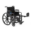 Medline K1 Basic Wheelchair with Swing-Back Desk-Length Arms and Elevating Leg Rests, 18 MED K1186N22E