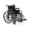 Medline K1 Basic Wheelchair with Swing-Back Desk-Length Arms and Swing-Away Leg Rests, 18 MED K1186N22S