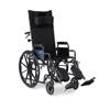 Medline Reclining Wheelchair with Desk-Length Arms MED KR188N21E