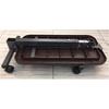 Medline Fold-Flat Overbed Table with Basket, Walnut, 1/EA MED MDS108015