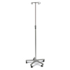 Medline Aluminum Deluxe Five Leg IV Pole, 2 EA/CS MEDMDS80494