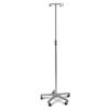 Medline Aluminum Deluxe Five Leg IV Pole, 2 EA/CS MEDMDS80494