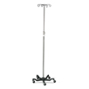 Medline Aluminum Five Leg IV Pole, 2 EA/CS MED MDS80500