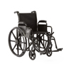 Medline K1 Basic Wheelchair with Desk-Length Arms, Swing-Away Footrests and 2 Bags, 18 Width MED MDS806250EE2B