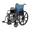 Medline K1 Basic Wheelchair with Desk-Length Arms, Swing-Away Footrests and Microban-Treated Touch Points, 18 Width, Teal MED MDS806250EET