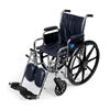 Medline Wheelchair, Excel, MDS806300, Navy Uphol MED MDS806300NVY