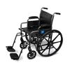 Medline K2 Basic Vinyl Wheelchairs, 24.000, 1/EA MED MDS806450EV